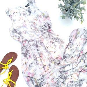 LITTLE MISTRESS floral maxi cut-out formal dress